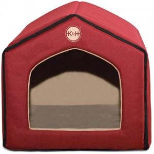 Спальное место-домик для собак и котов «K&H Indoor Pet House» - материал покрытия – нейлон, внутренняя обивка – плюш: описание