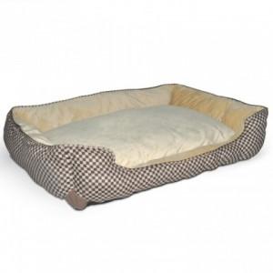 Спальное самосогревающиеся место для собак и котов «K&H Self-Warming Lounge Sleeper» - изготовлен из полиэстера/хлопка и мягкого микрофлиса.: описание