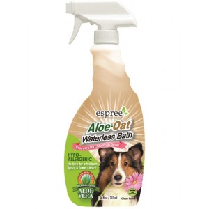 Espree Aloe-Oat Waterless Bath - гипоаллергенный спрей для чувствительной кожи и шерсти