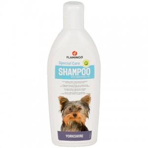 Мягкая формула шампуня «Flamingo Shampoo Care Yorkshire» - обеспечивает блеск шерсти, делает ее блестящей и послушной   Petplus