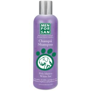 MENFORSAN Pelo Blanco White fur Shampoo - оттеночный шампунь для собак / усиления белых оттенков цвета