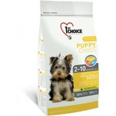 1st Choice Toy & Small Puppy Chicken - сухой корм для щенков мини и малых пород с курицей