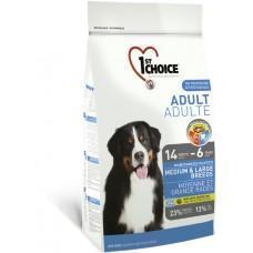 1st Choice Medium & Large Breeds Adult for Dog - супер-премиум корм для взрослых собак средних и крупных пород с курицей