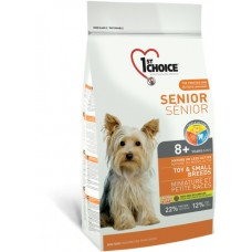 1st Choice Senior 8+years and over TOY & SMALL BREEDS - сухой супер-премиум корм для пожилых или малоактивных собак мини и малых пород