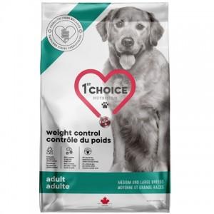 Лишний вес у вашей собаки? Корм с низким содержанием жира «1st Choice Adult Weight Control» корм для собак средних и крупных пород: обзор, описание, продажа
