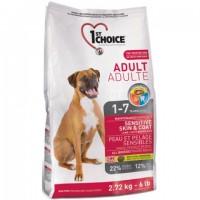 1st Choice Sensitive Skin&Coat Adult Lumb & Fish - сухой корм для взрослых собак с ягненком и океанической рыбой