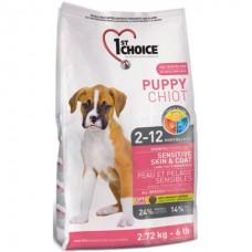 1st Choice «Фест Чойс» Puppy Chiot  Sensitive Skin & Coat - сухой супер премиум корм для щенков с ягненком и океанической рыбой