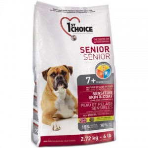 1st Choice «Фест Чойс» Senior Sensitive Skin & Coat 7 + ▪ сухой корм для пожилых собак с ягненком и океанической рыбой