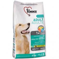 1st Choice Adult Light Healthy Weight - малокалорийный сухой супер-премиум корм для собак с избыточным весом