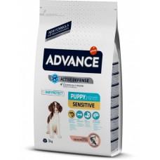 Advance Puppy Sensitive All Breeds - корм для щенков всех пород с чувствительным пищеварением / с лососем и рисом