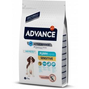 Advance «Эдванс» Puppy Sensitive - корм для щенков всех пород с чувствительным пищеварением / с лососем и рисом
