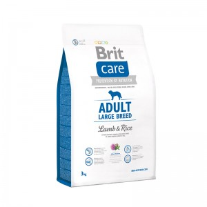 BRIT CARE Adult LARGE Breed сухой корм для крупных пород собак (ягнёнок/рис)