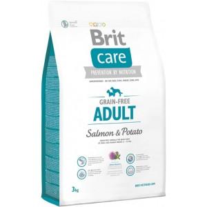 беззерновой корм для взрослых собак средних пород: лосось-картофель «Brit Care» для собак | Чувствительное пищеварение «Брит Кэа» для собак | Petplus