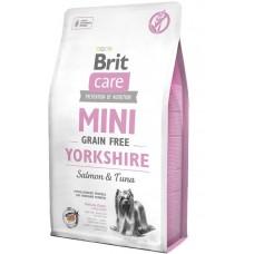 Brit Care Grain Free Mini Yorkshire - корм беззерновой для йоркширских терьеров с лососем и тунцом