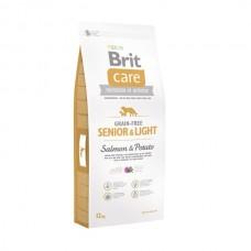 Brit Care Grain Free Senoir and Light Salmon and Potato - беззерновой сухой корм для пожилых и малоактивных собак всех пород