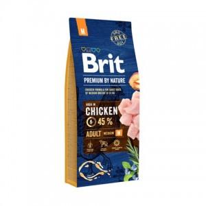 Brit Premium Adult M сухой корм для взрослых собак средних пород (от 10 до 25 кг)
