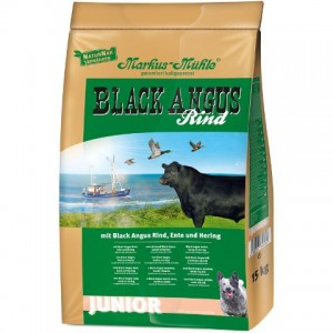 LupoSan Black Angus Junior для щенков и молодых собак с говядиной, уткой и сельдью