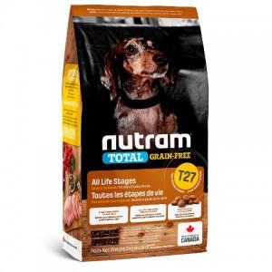 Nutram Total Grain-Free (T27 ) Turkey and Chiken Small Breed Dog Food ▪ корм для собак малых пород с индейкой, курицей и уткой