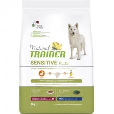 Trainer Natural Dog Sensitive Adult Medium & Maxi with Rabbit (No Gluten) -  корм для взрослых собак средних и крупных пород / кролик с рисом