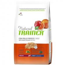 TRAINER NATURAL Medium With Chicken Rice Aloe Vera - корм для взрослых собак средних пород / курица с рисом