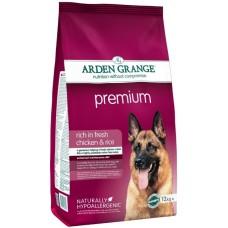Arden Grange Adult Dog Premium - корм для привередливых собак / курица с рисом