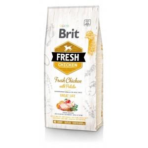 Brit Fresh Chicken with Potato Adult Great Life - корм для собак / курица