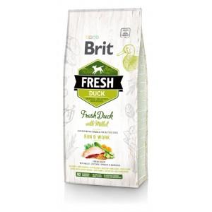 Brit Fresh Duck with Millet Adult Run and Work - корм для активных собак / утка