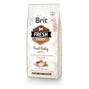 Brit Fresh Turkey with Pea Adult Fit and Slim - корм для собак с избыточным весом / индейка
