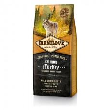 Carnilove Adult Large Salmon & Turkey с лососем и индейкой для взрослых собак крупных пород