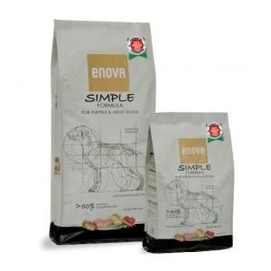 Суперпремиальные беззерновые корма «Enova Formula SIMPLE Dogs» | Корм «Энова Формула Симпл Собаки Взрослые Щенки»: для питания активных собак | страна-производитель: Италия | Petplus