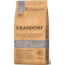 Grandorf Sensitive Care Holistic Rabbit & Potato All Breeds (Grain Free) - беззерновой корм для собак всех пород / с кроликом и бататом