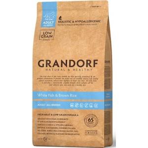Grandorf Sensitive Care Holistic White Fish & Rice All Breeds - корм для собак всех пород / с белой рыбой и рисом