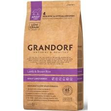 Grandorf Sensitive Care Holistic Lamb & Rice Adult Large Breed - корм для взрослых собак крупных пород / ягненок с рисом