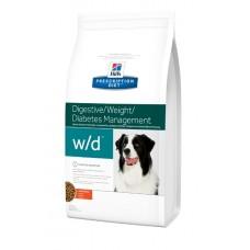 Hill's Prescription Diet Canine W/D Digestive / Weight / Chicken - корм для снижения и контроля веса собак