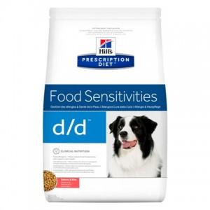 Лечебная диета при подозрении на пищевую аллергию с лососем и рисом для собак «Hill's Prescription Diet Canine Sensitivities d/d» | Petplus