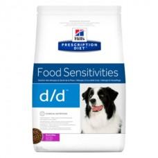 Hill's Prescription Diet Canine Duck and Rice D/D - лечебный корм, пищевая непереносимость для взрослых собак с уткой
