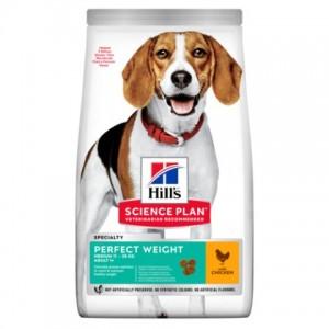 Hill's SP Canine Adult Medium Breed Perfect Weight - корм для поддержания веса у средних собак / с курицей