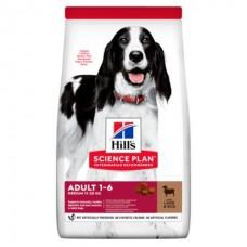 Hill's SP Canine Adult Medium Lamb&Rice - корм для собак средних пород с ягненком и рисом