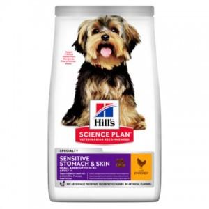 Сухой корм Hill's Science Plan Sensitive Stomach & Skin для взрослых собак мелких пород с чувствительной кожей и пищеварением
