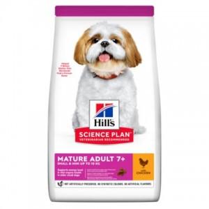 Купить корм для взрослых собак малых пород старше 7 лет с курицей Hill's  Science Plan  Canine Mature Adult 7+ Active Longevity | Petplus