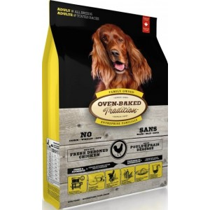 "Натуральный корм для собак всех пород: «Овен-Бакед Традишн» - свежее мясо курицы   Основное питание ""Oven-Baked Tradition Adult All Breeds Chicken"" - корм из Канады   Petplus"