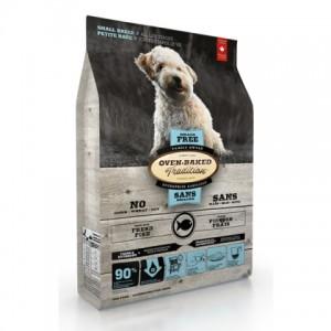 Натуральный беззерновой корм для собак мелких пород: «Овен-Бакед Традишн» - свежее мясо рыбы с фруктами и овощами | Основное питание Oven-Baked Tradition Grain-Free Small Breed Fish| корм холистик из Канады | Petplus