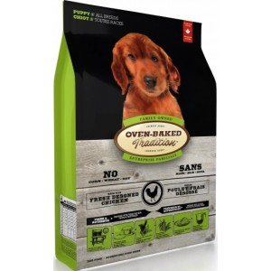 "Натуральный корм для щенков всех пород: «Овен-Бакед Традишн» - свежее мясо курицы | Основное питание ""Oven-Baked Tradition Puppy All Breed Chicken"" - корм из Канады | Petplus"