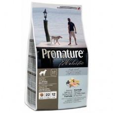 Pronature Holistic Adult Atlantic Salmon & Brown Rice - корм для собак с атлантическим лососем и коричневым рисом / холистик