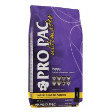 PRO PAC Ultimates Puppy Chicken & Brown Rice Formula - корм для щенков всех пород / курица и бурый рис