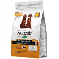 Schesir Dog Medium Adult Chicken - сухой монопротеиновый корм для собак средних пород