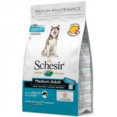 Schesir Dog Medium Adult Fish - сухой монопротеиновый корм для собак средних пород