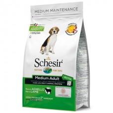 Schesir Dog Medium Adult Lamb - сухой монопротеиновый корм для взрослых собак средних пород