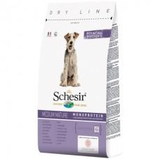 Schesir Dog Medium Mature - сухой монопротеиновый корм для пожилых или малоактивных собак средних пород