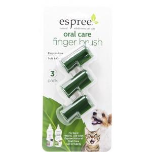 Espree Oral Care Finger Brush 3 pack - набор из 3 щеток для ухода за зубами